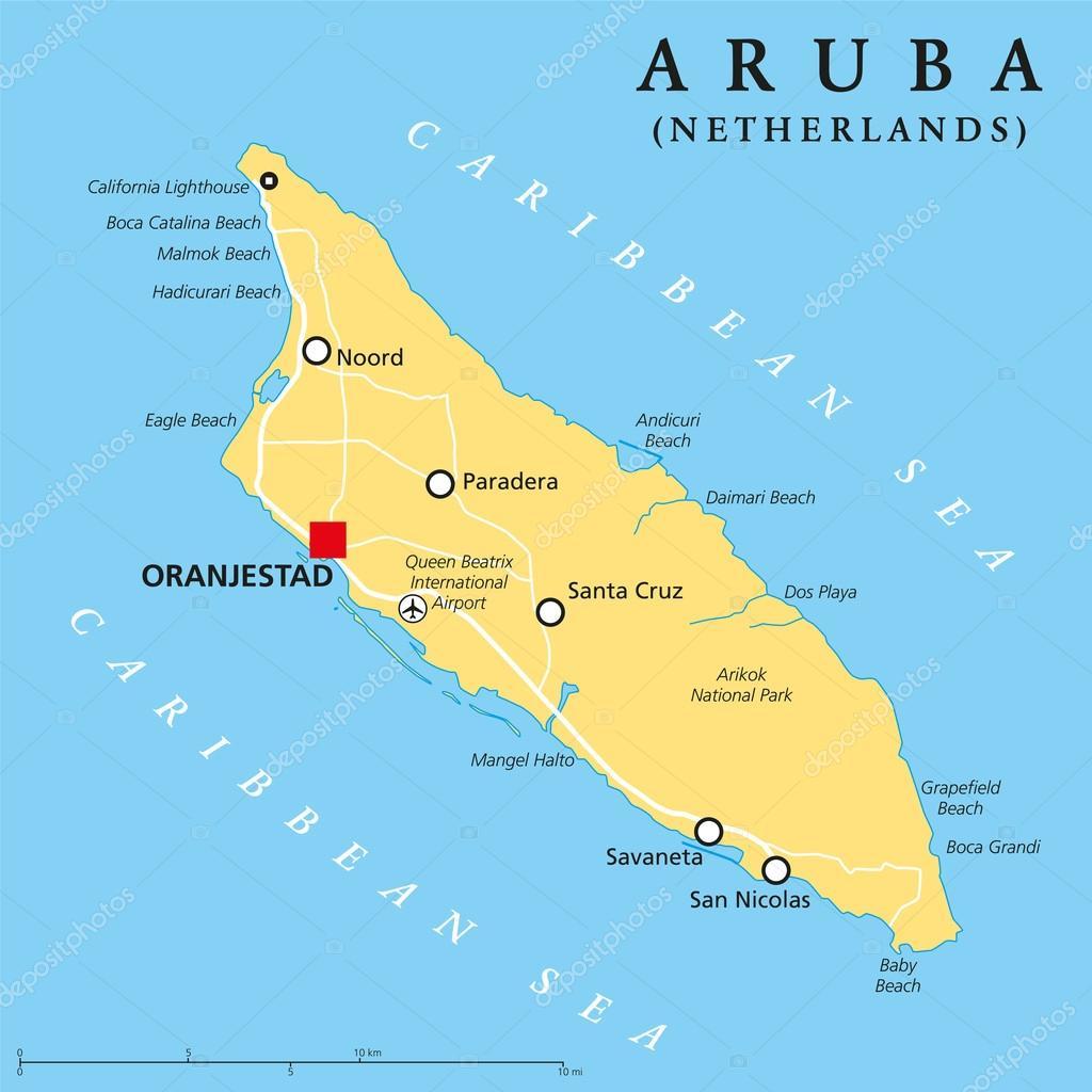 aruba mapa Mapa político de Aruba — Vector de stock © Furian #69797395 aruba mapa