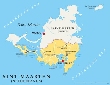 Sint Maarten Political Map