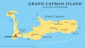 Photo Grand Cayman Island Political Map