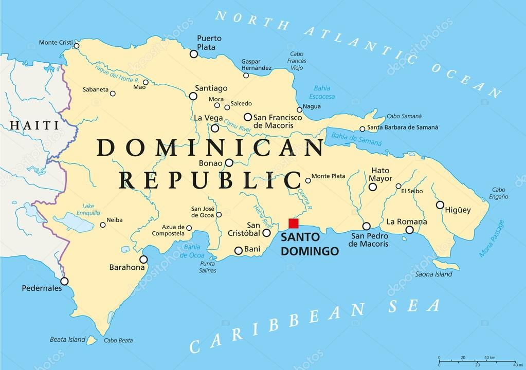 Dominican Republic Political Map Stock Vector C Furian 70014347