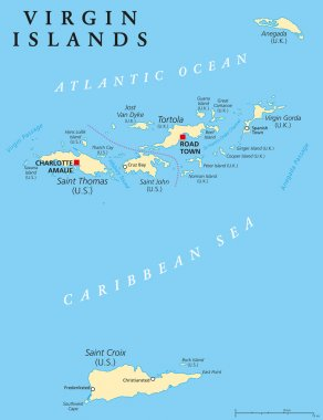 Virgin Islands Political Map