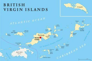 British Virgin Islands Political Map
