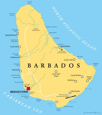 Barbados Political Map