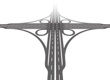 Cloverleaf Interchange Aerial Perspective
