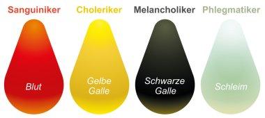 Sanguine Choleric Melancholic Phlegmatic German