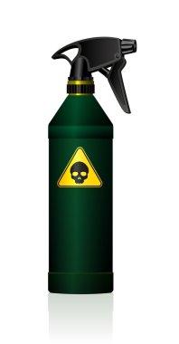 Spray Bottle Poison Toxic Skull