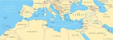 Mediterranean Basin Political Map