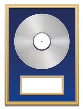 Platinum Certified Platin Record Plaque Blank Frame