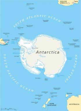 Antarctic Region Political Map