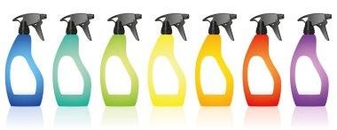 Spray Bottles Blank Colors Rainbow