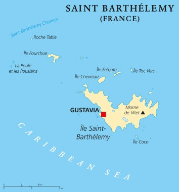 Saint Barthelemy Political Map