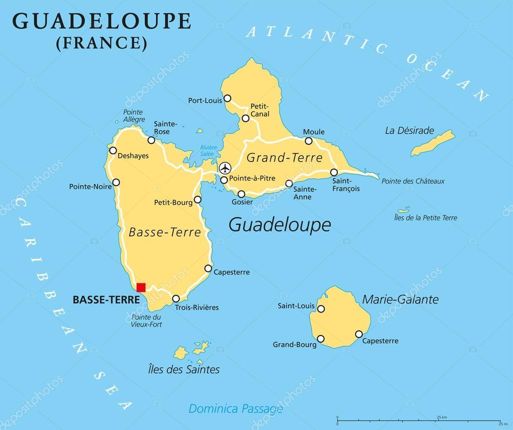 guadalupe mapa mapa político de Guadalupe — Vector de stock © Furian #76010501 guadalupe mapa