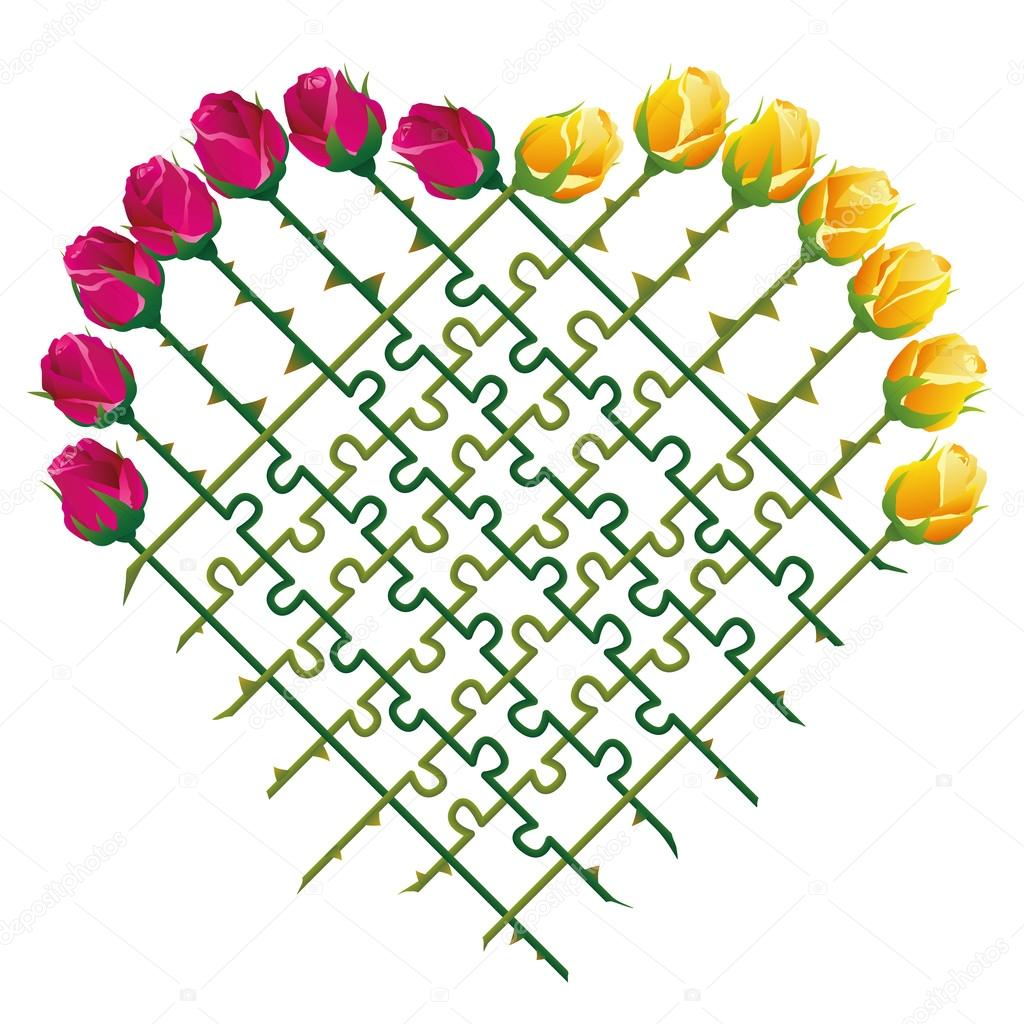 Roses Heart Love Puzzle