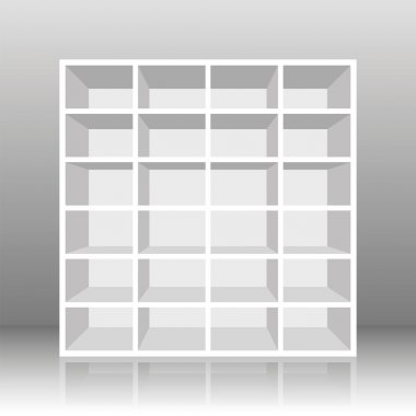 Rack Book Shelf White