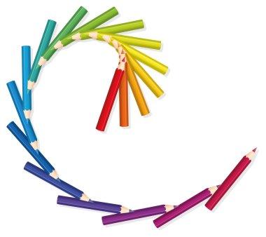 Colored Pencils Spiral Golden Cut