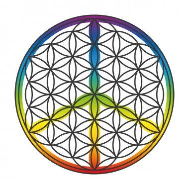 Flower Of Life Peace Symbol Superimposed