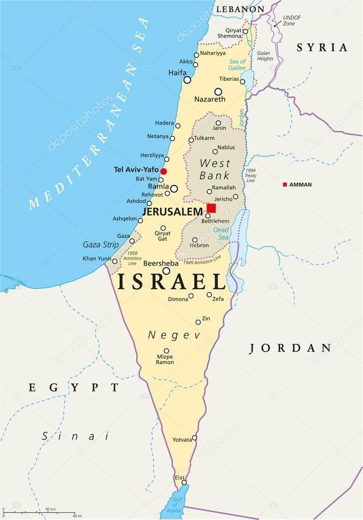 landkarte israel