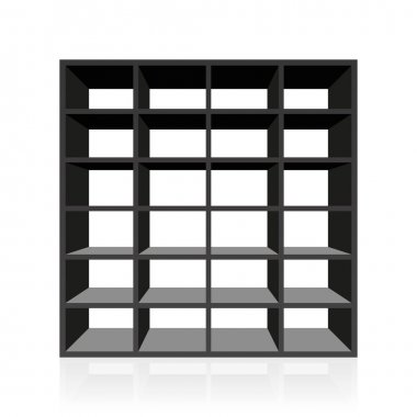 Black Rack Book Shelf