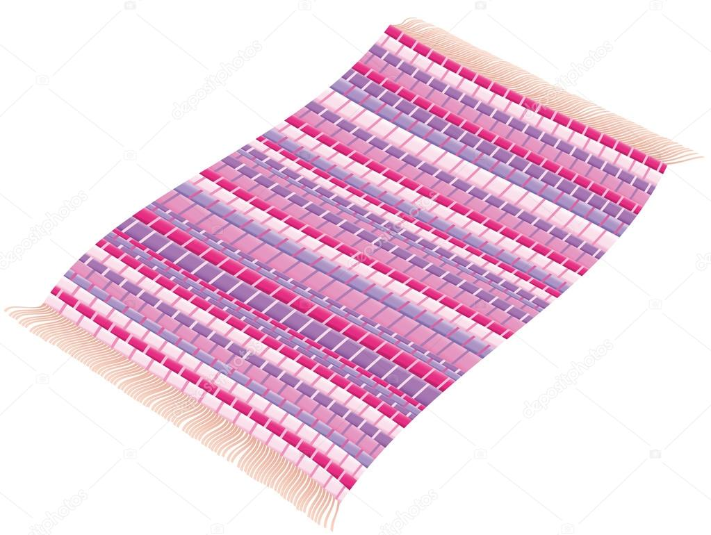 Rag Rug Flying Carpet Magenta Pink Purple Rosy