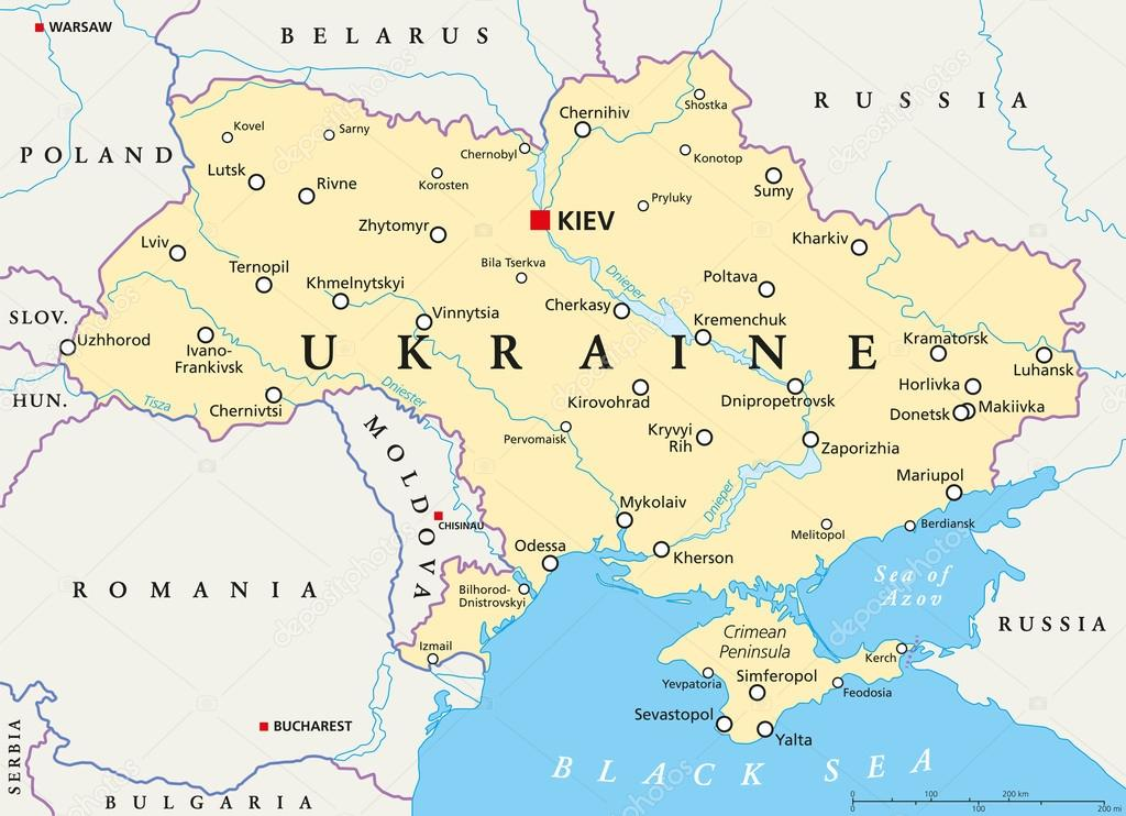 Ukraine Political Map Stock Vector C Furian 85820810
