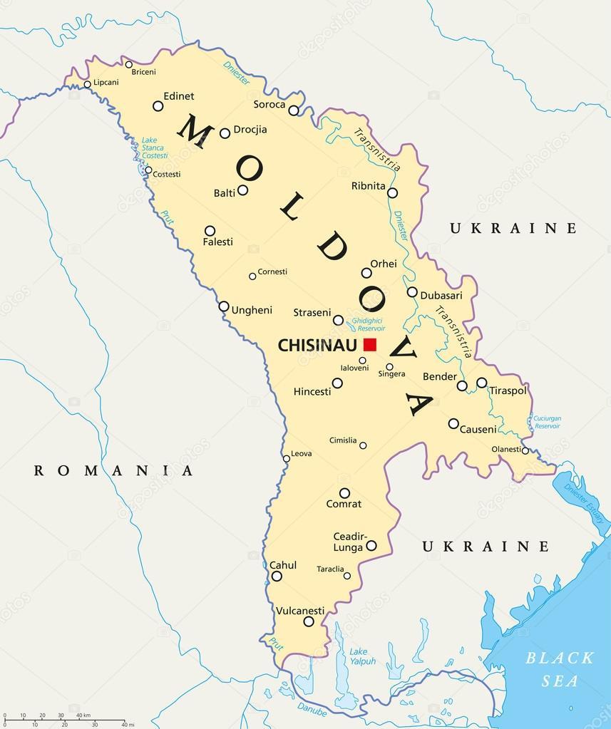 moldavien karta Moldavien politiska karta — Stock Vektor © Furian #85914868 moldavien karta