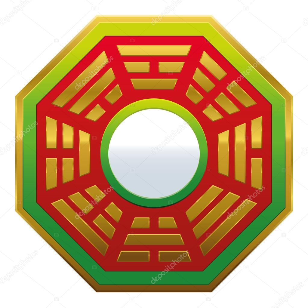 Bagua specchio feng shui vettoriali stock furian 89430128 for Specchio ingresso feng shui