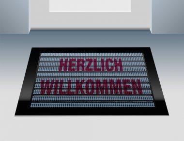 Welcome German Doormat