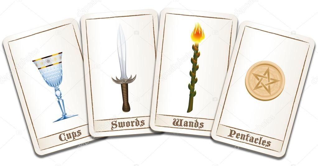Tarot Cards Symbols Archivo Imgenes Vectoriales Furian 97198862