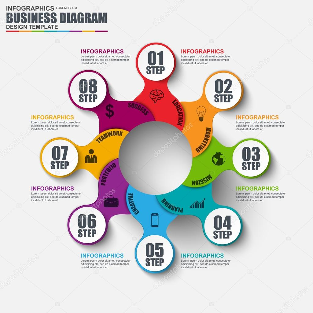 Infographic cycle diagram vector design template can be used for infographic cycle diagram vector design template can be used for workflow layout business process friedricerecipe Choice Image