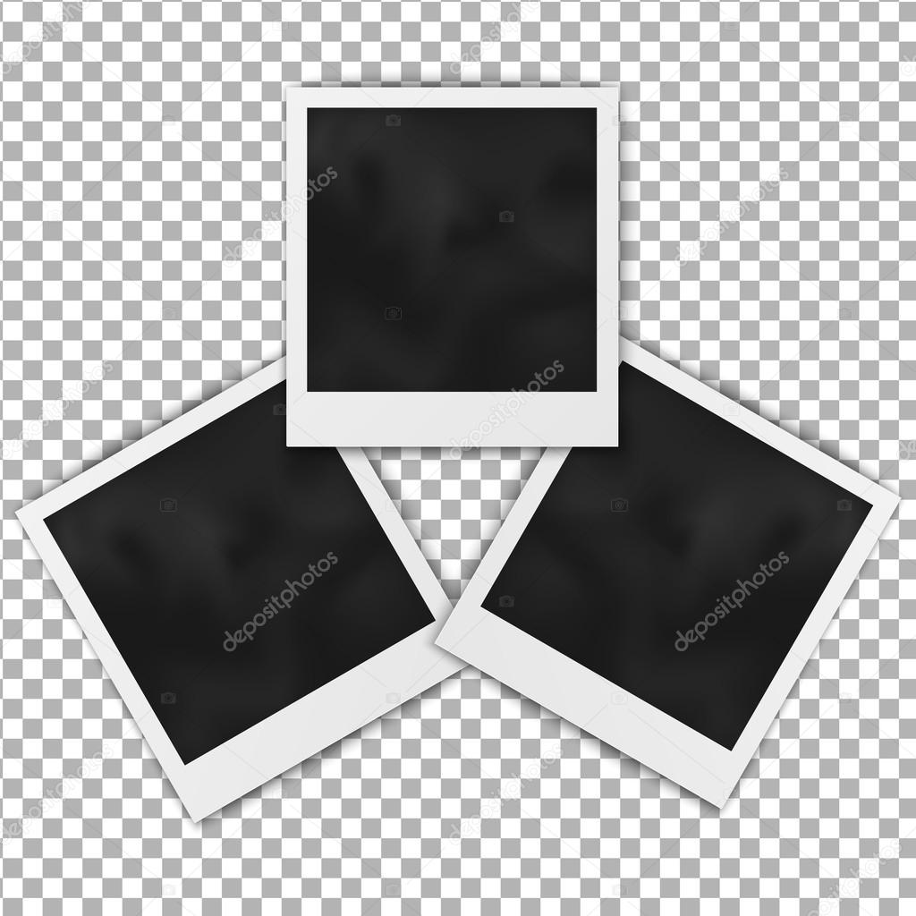 Set of realistic blank photo frame polaroid frame isolated on ...
