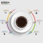 Fotografie Abstract 3D digital business timeline Infographic