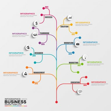 Infographics tree vector design template