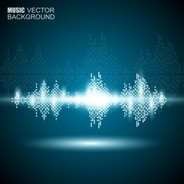 Abstract music waves background