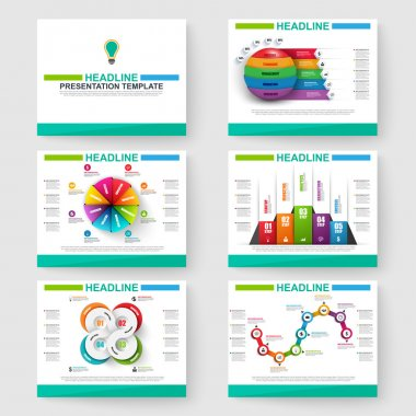 Set of multipurpose presentation infographic for powerpoint