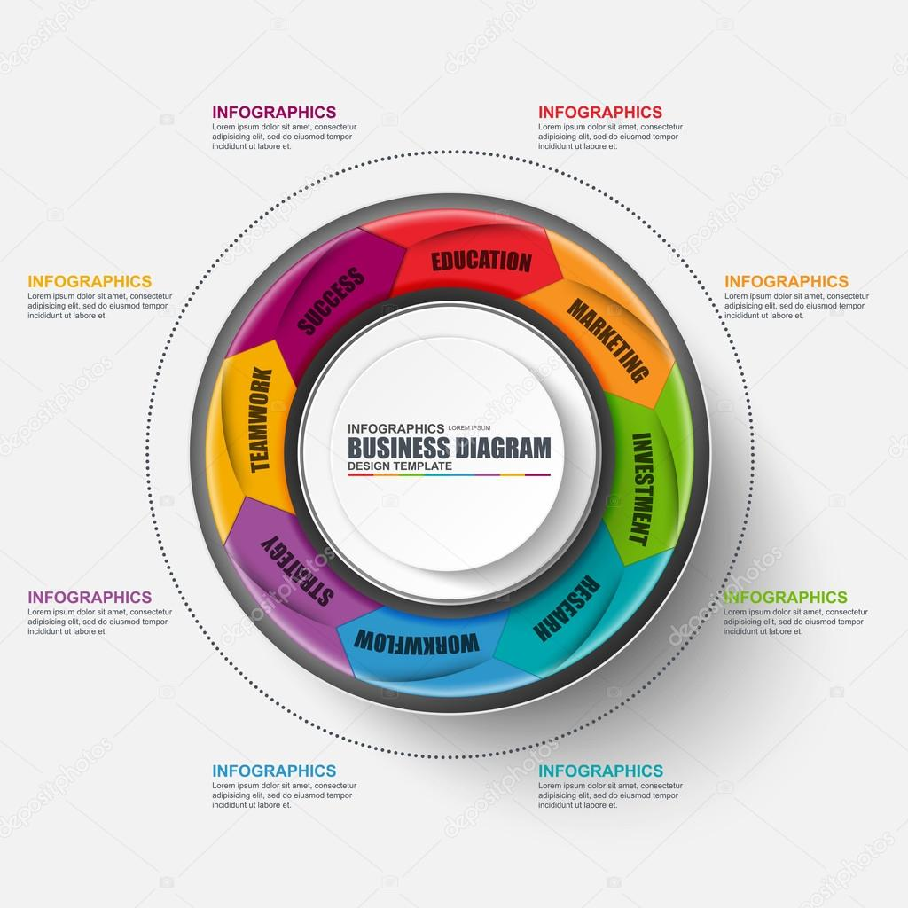 Abstrakt 3d Business-marketing Diagramm Infographik — Stockvektor ...