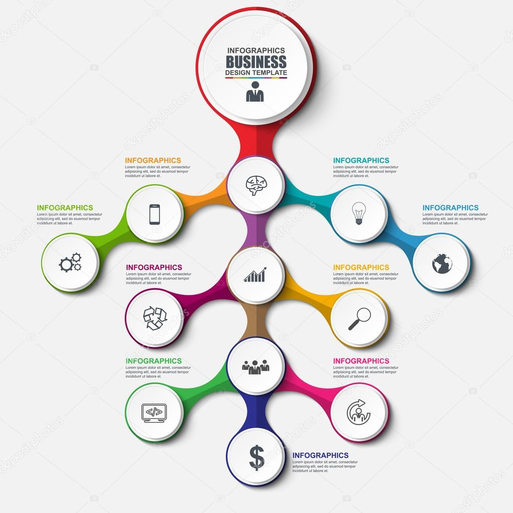 Abstract 3d Business Tree Infographic Can Be Used For