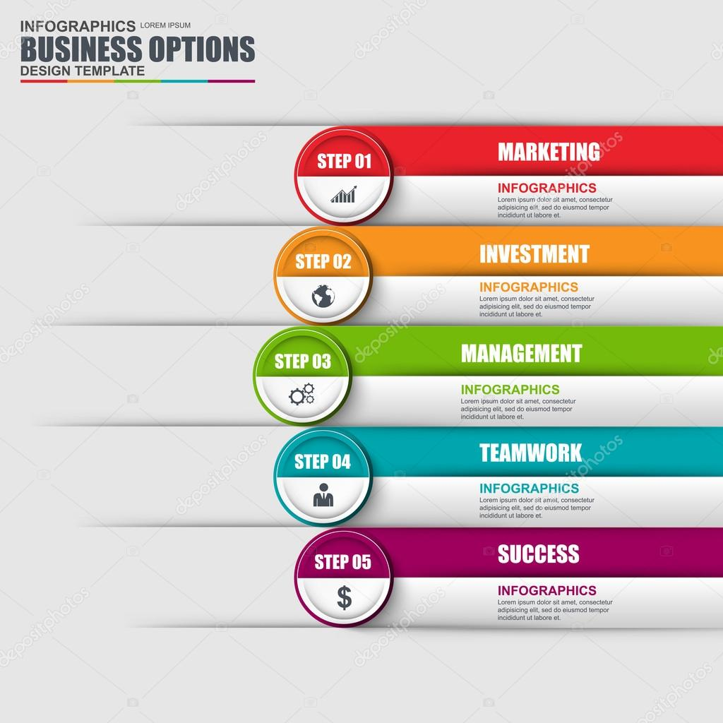 Infographic design template and marketing icons business concept infographic design template and marketing icons business concept with 5 options parts steps accmission Images