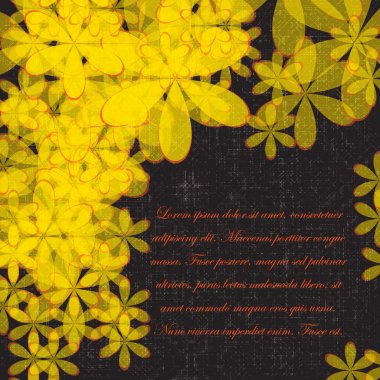 Abstract  background with flowers pattern. Eps10 Vector illustration