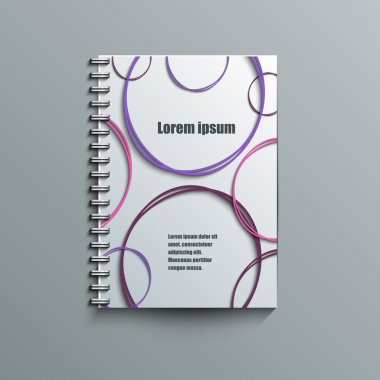 Notepad template with abstract background