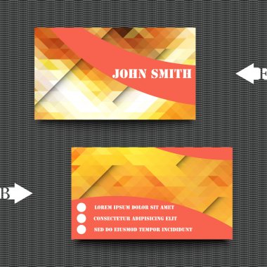 Business card template with abstract background.