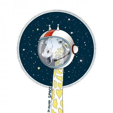 giraffe in outer space