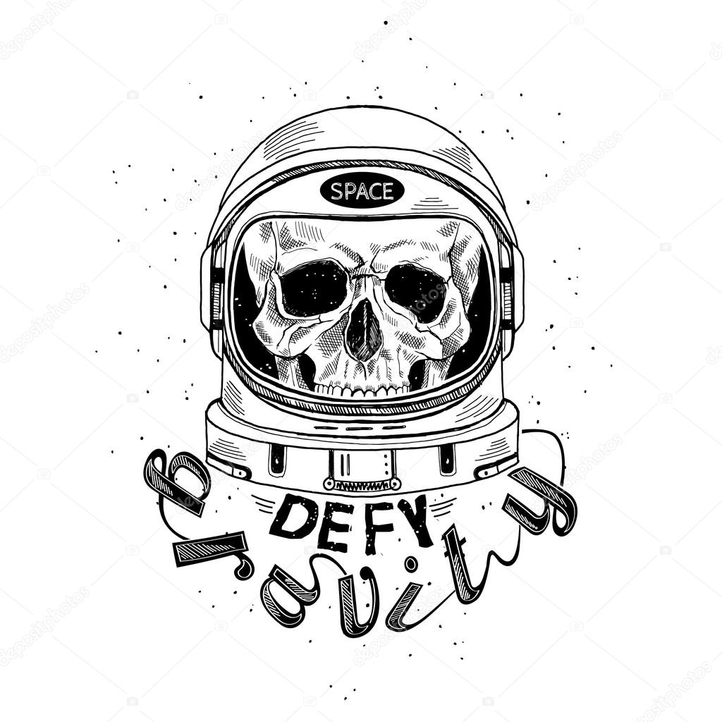 Scull De Casco De Astronauta U2014 Archivo Imu00e1genes Vectoriales U00a9 Olga.angelloz #100672014
