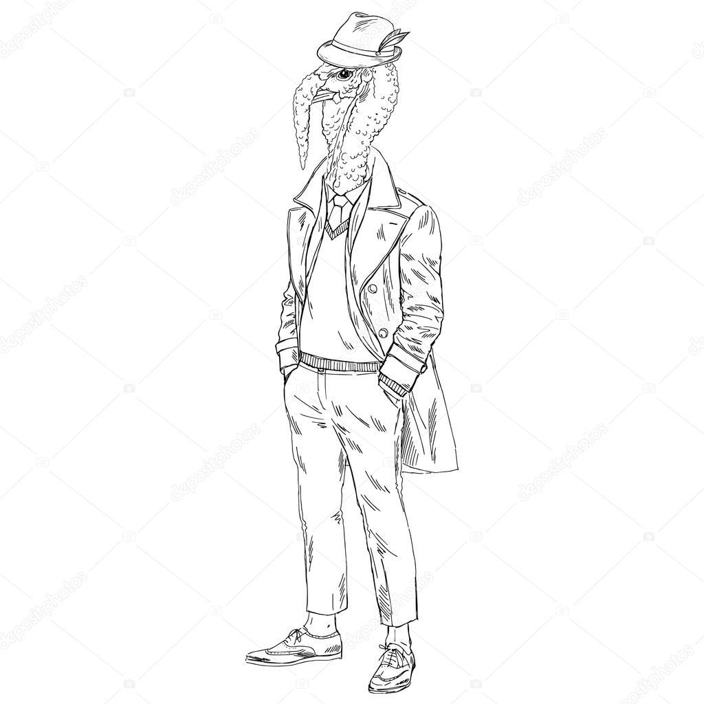 Truthahn in Mantel-Abbildung — Stockvektor © olga.angelloz #104668674