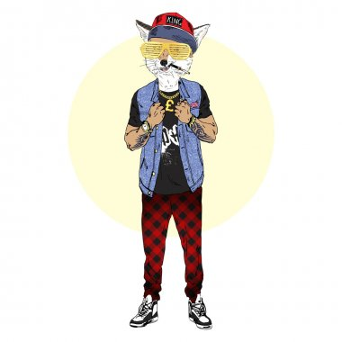 fox in hip hop style