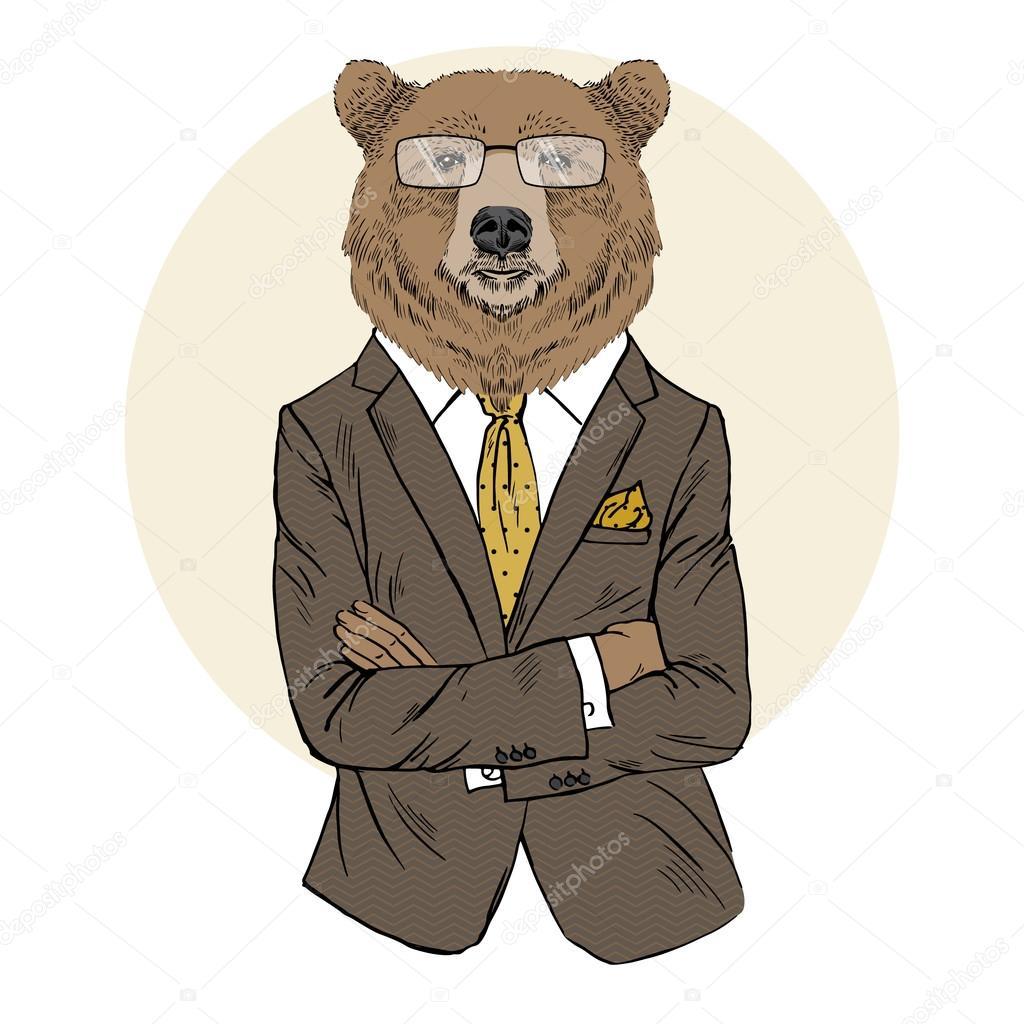 картинка бурый медведь в костюме белого картинки