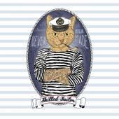 Vörös macska tengerész