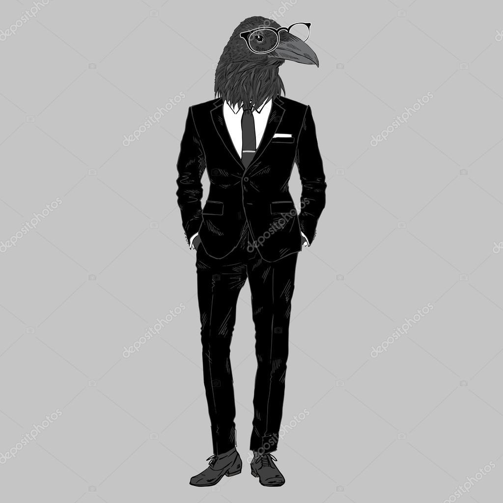 Raven dressed