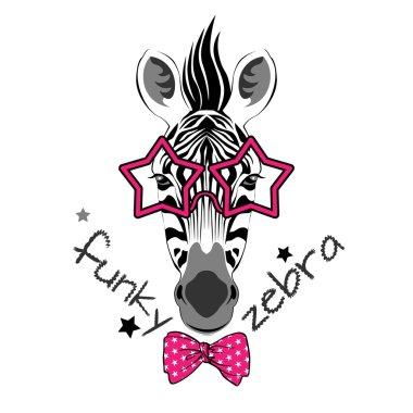 Fashion funky zebra