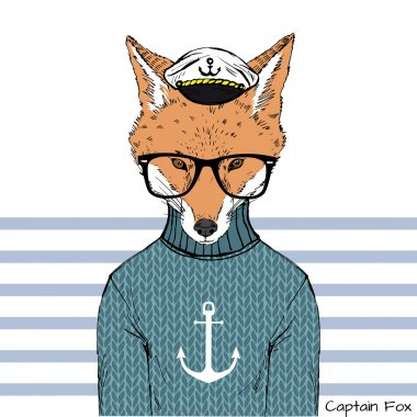 Captain fox with glasses