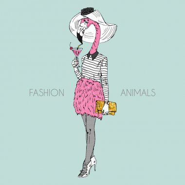 flamingo fashion girl